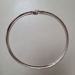 14k white gold 4mm Omega necklace made in Italy